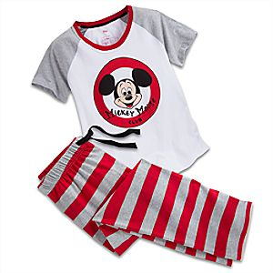 Mickey Mouse Club Pajama Set for Women