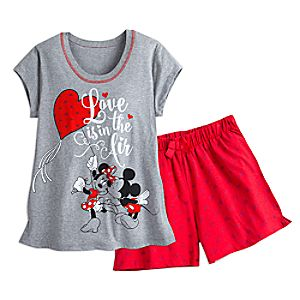 Mickey and Minnie Mouse Short Sleep Set for Women