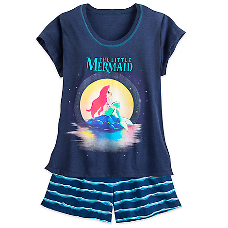 The Little Mermaid Short Sleep Set for Women