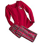 Minnie Mouse Plaid Pajama Set for Women - Personalizable