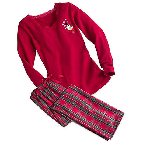Minnie Mouse Plaid Pajama Set for Women