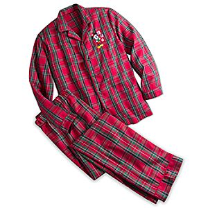 Mickey Mouse Plaid Pajama Set for Men - Personalizable