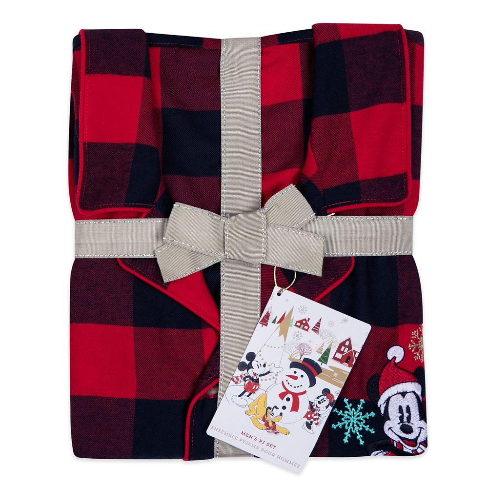 Mickey Mouse Holiday Plaid PJ Set for Men