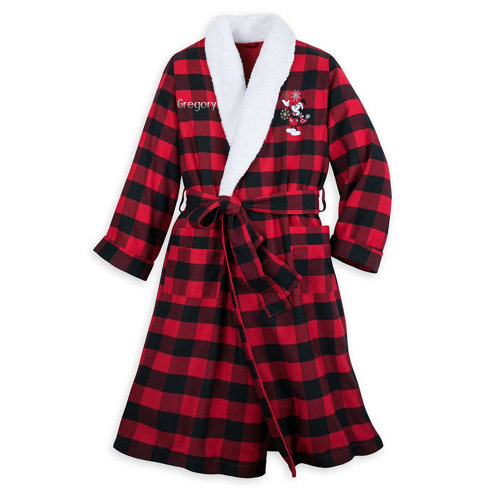 Mickey Mouse Holiday Plaid Robe for Adults – Personalized