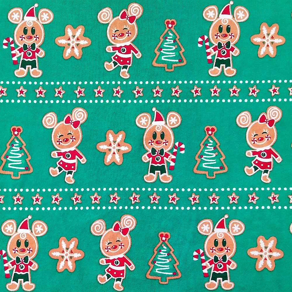 Mickey and Minnie Mouse Holiday Pajama Set for Women