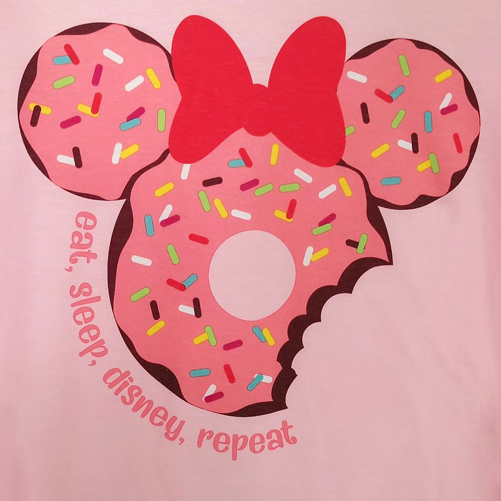 Minnie and Mickey Mouse Donuts Sleep Set for Women
