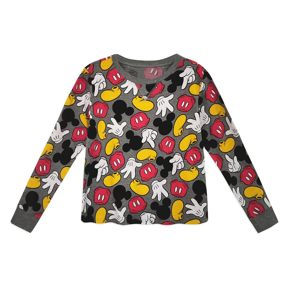Mickey Mouse Parts Thermal Pajama Set for Women