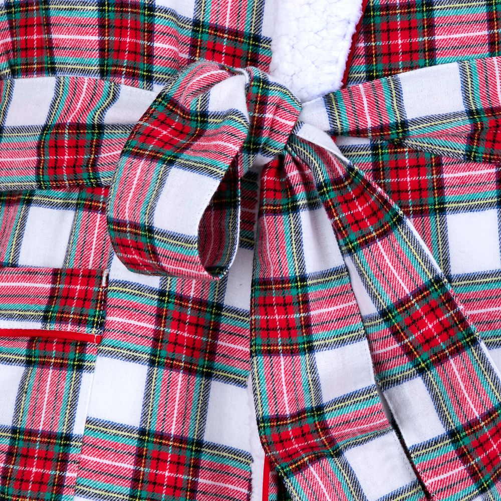 Mickey Mouse Holiday Plaid Robe for Adults