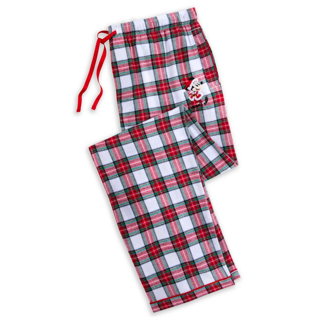Mickey Mouse Holiday Plaid Pajama Pants for Men