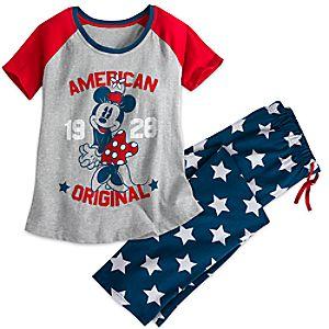 Minnie Mouse Americana Pajama Set for Women