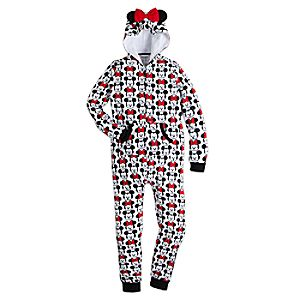 Mickey and Minnie Mouse MXYZ One Piece PJ for Women 4901057392159M