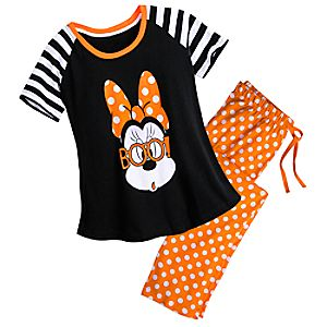 Minnie Mouse Halloween PJ Set for Women