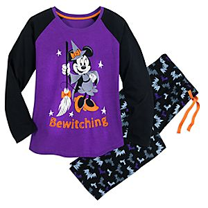 Minnie Mouse Halloween PJ Set for Ladies