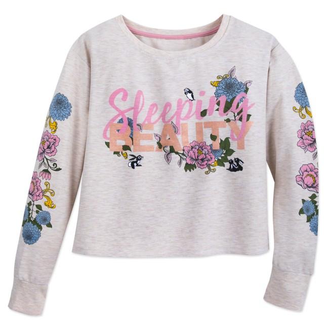 Sleeping Beauty Long Sleeve Sleepwear Shirt for Women