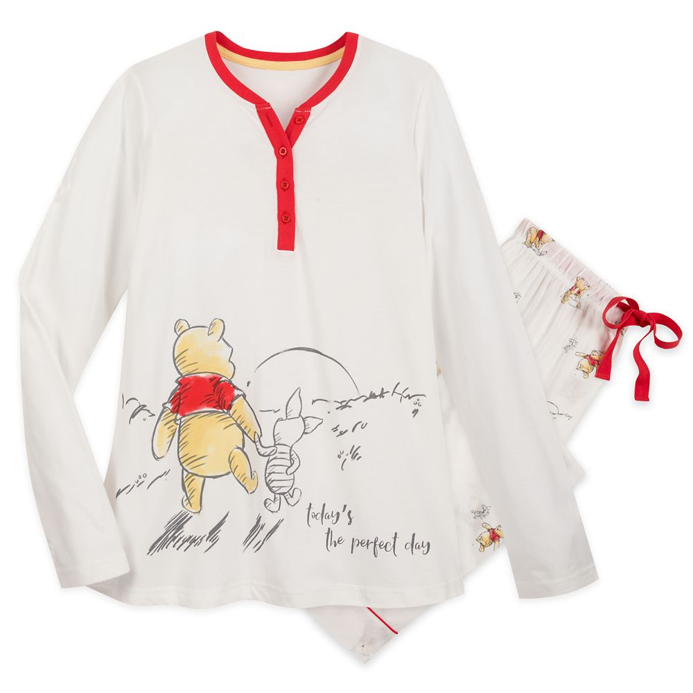 Winnie the Pooh and Piglet Pajama Set for Women