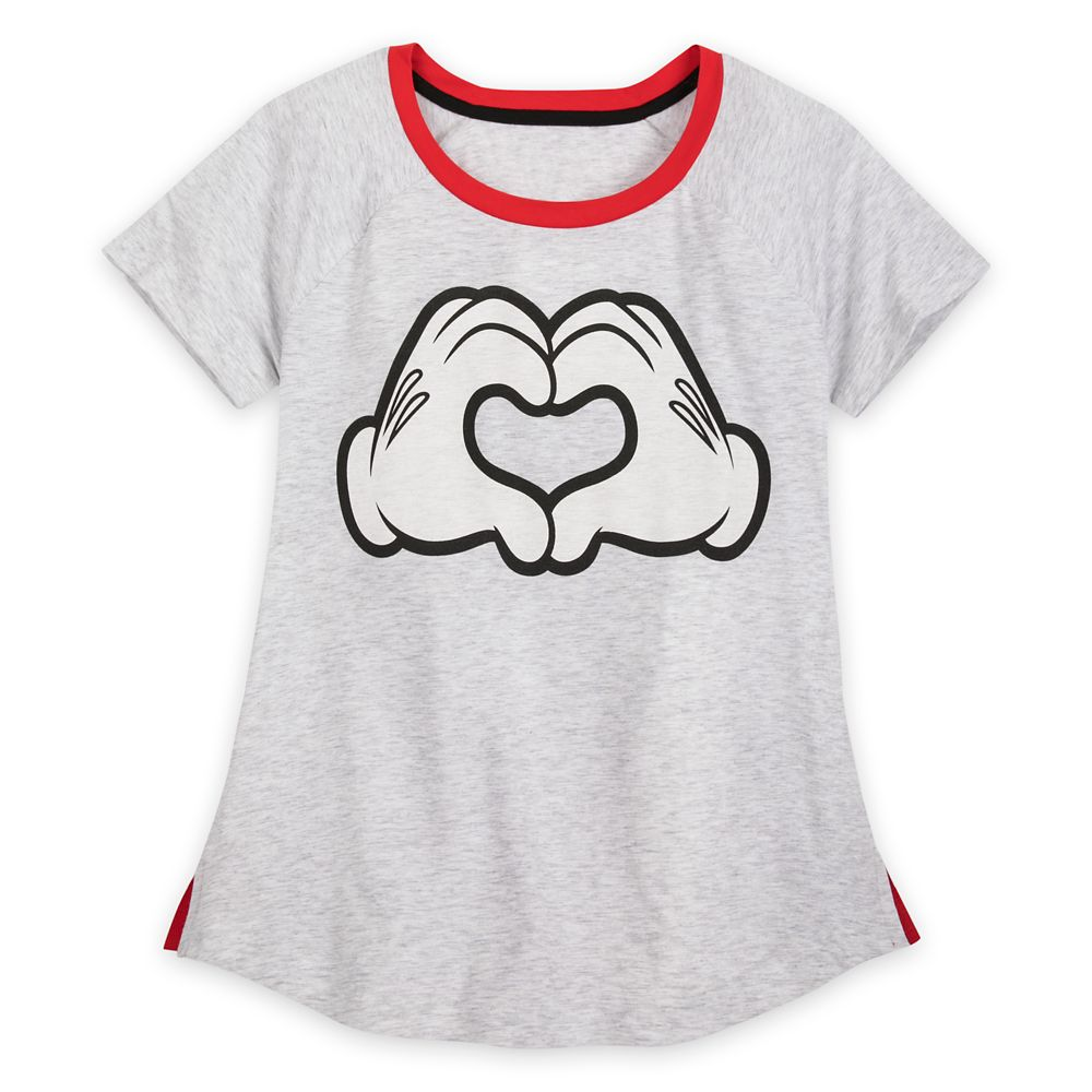 Minnie Mouse Heart Hands Pajama Set for Women