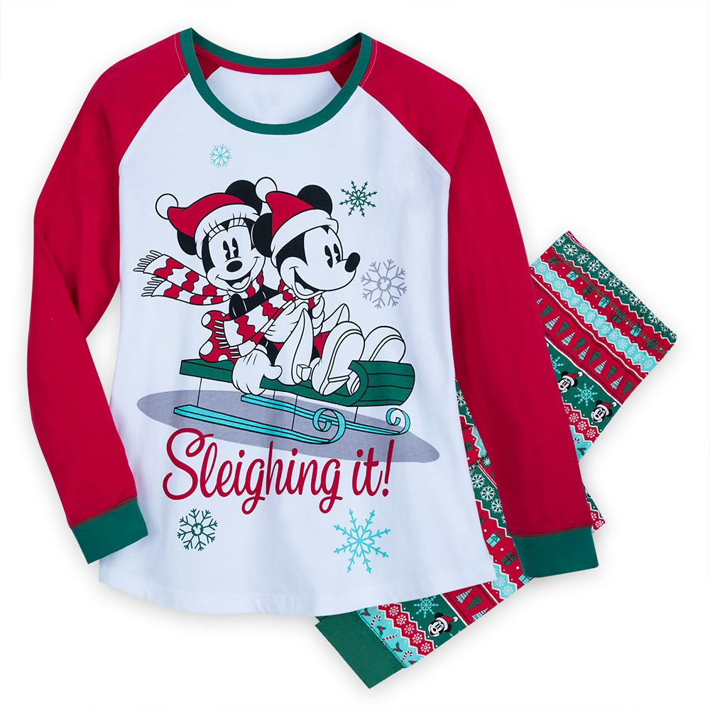 Mickey and Minnie Mouse Holiday Pajamas for Women