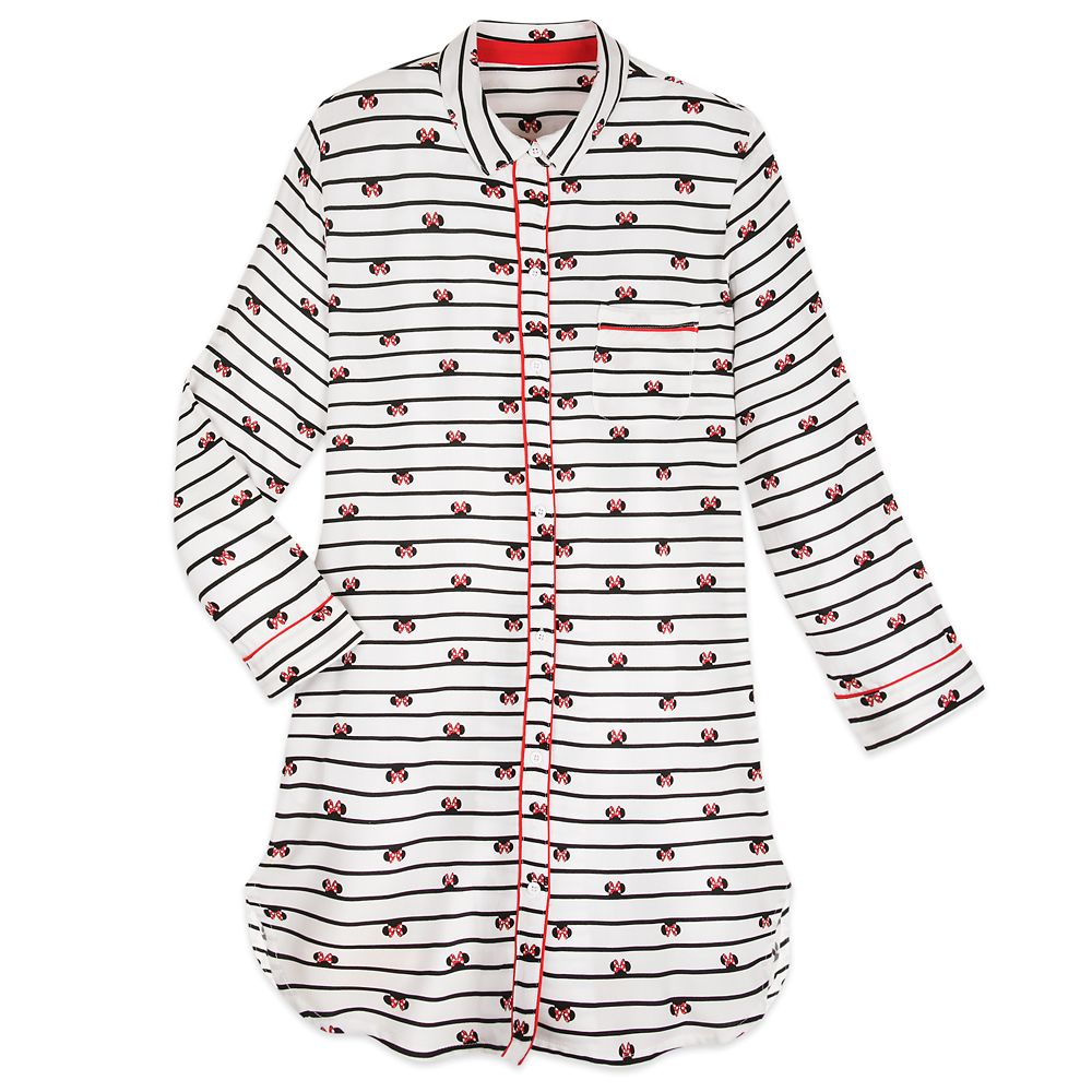 Minnie Mouse Striped Nightshirt for Women