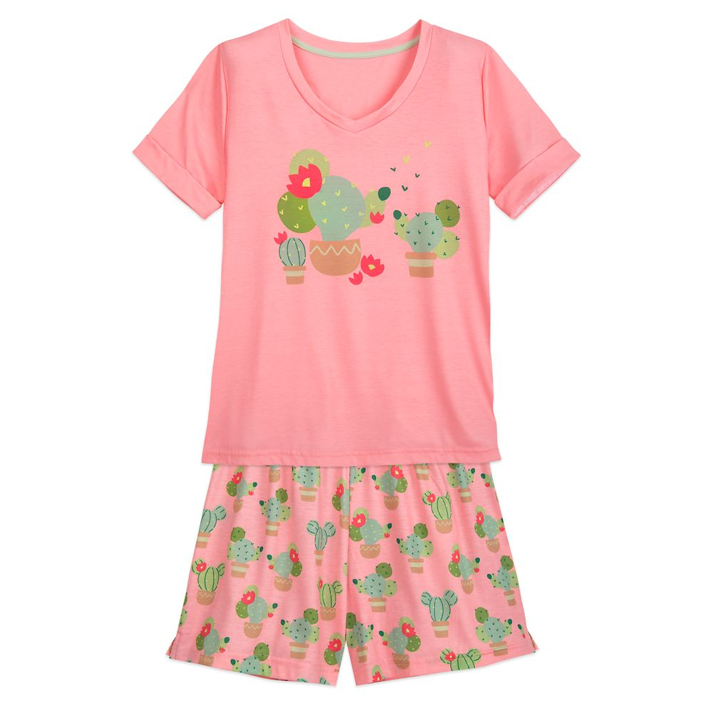 Minnie and Mickey Mouse Cactus Pajama Set for Women