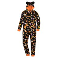 Mickey Mouse Pumpkin Halloween One-Piece Pajama for Adults