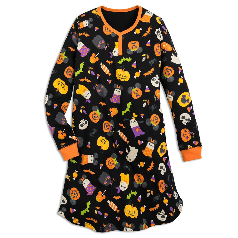 Mickey Mouse Pumpkin Halloween Nightshirt for Women