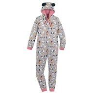 Mickey Mouse and Friends Holiday One-Piece Pajama for Adults