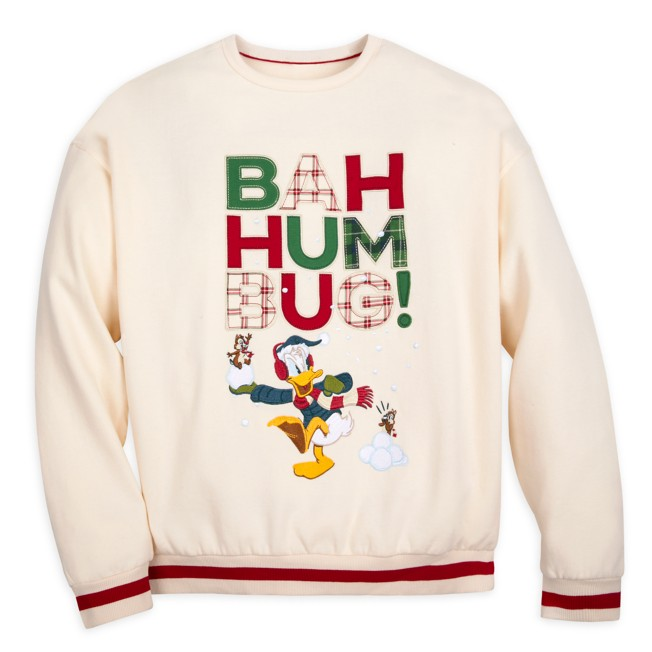 Donald Duck, Chip 'n Dale Holiday Pullover Sweatshirt for Adults