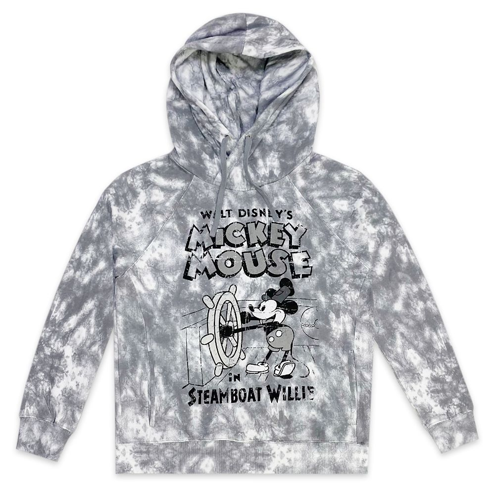 Steamboat Willie Tie-Dye Pullover Hoodie for Men