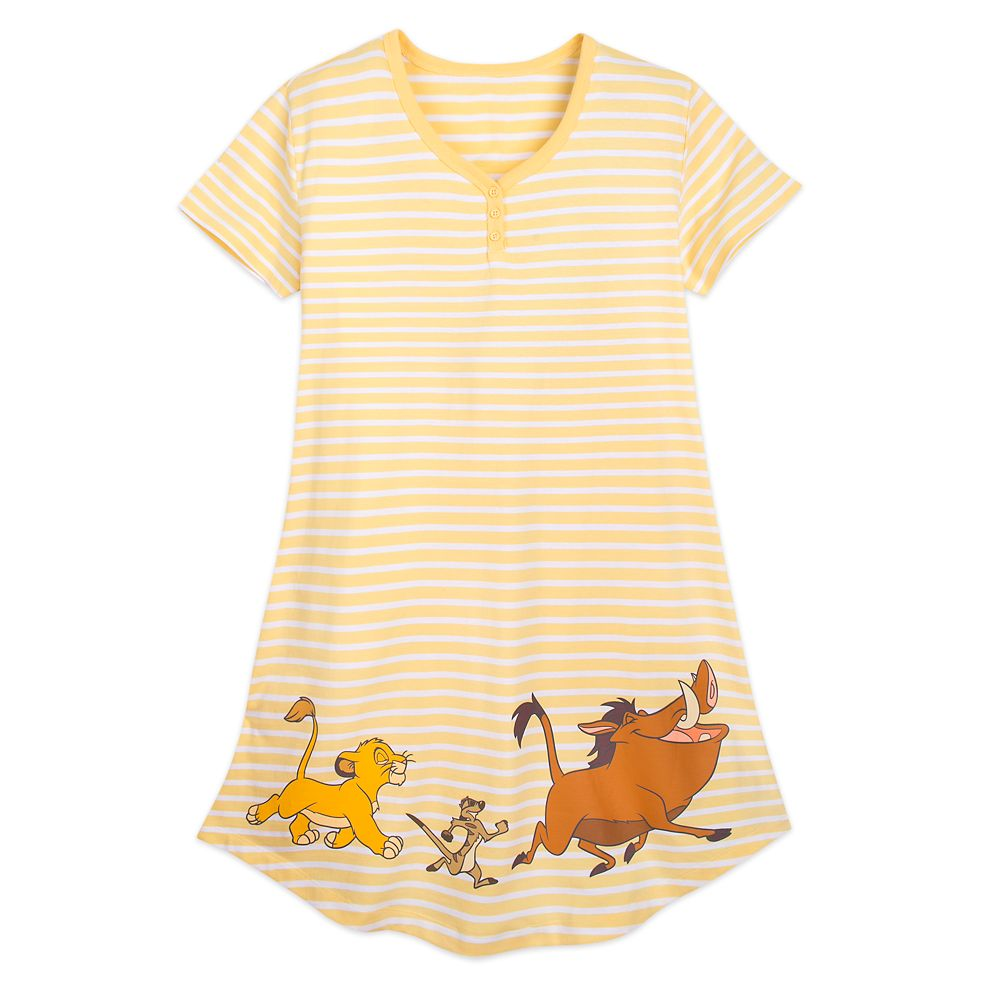 Simba, Timon, and Pumbaa Nightshirt for Women