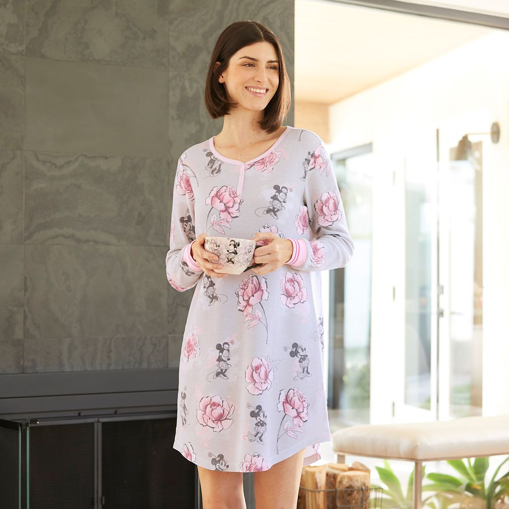 Minnie Mouse Floral Nightshirt for Women