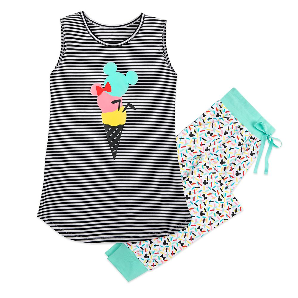 Mickey Mouse and Friends Ice Cream Pajama Set for Women – Disney Eats