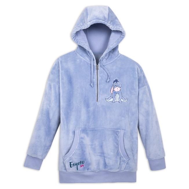 Eeyore Velour Pullover Hoodie for Adults
