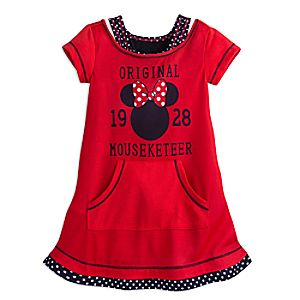 Minnie Mouse Mouseketeer Nightshirt for Girls 4902055252057M