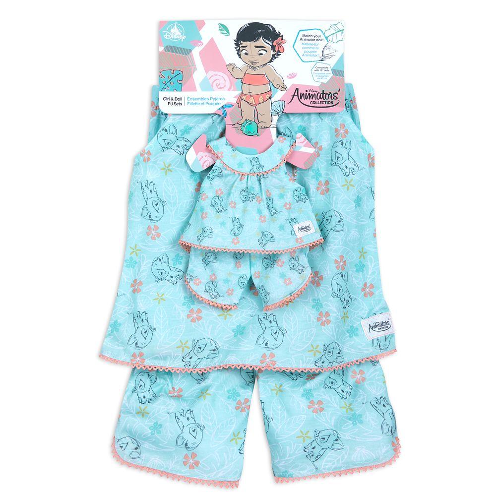 Disney Animators' Collection Moana Matching Pajama Set for Kids and Doll