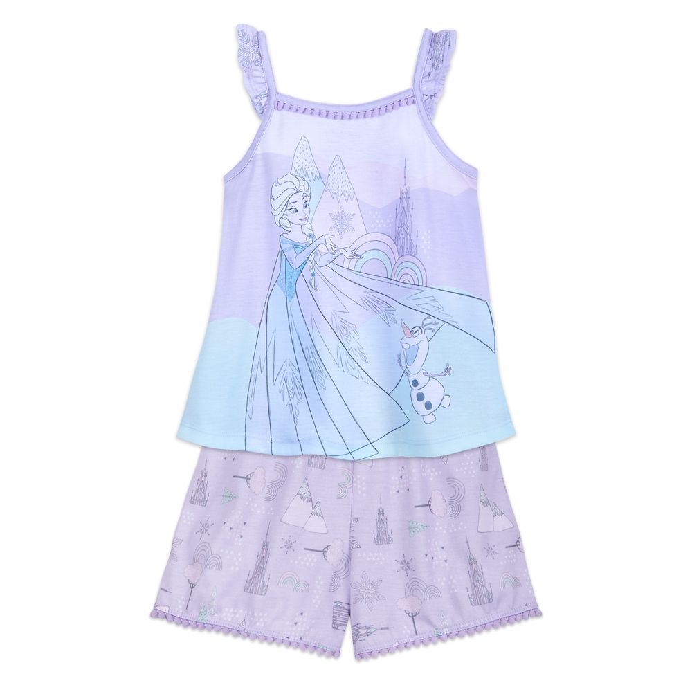 Elsa and Olaf Short Sleep Set for Girls – Frozen