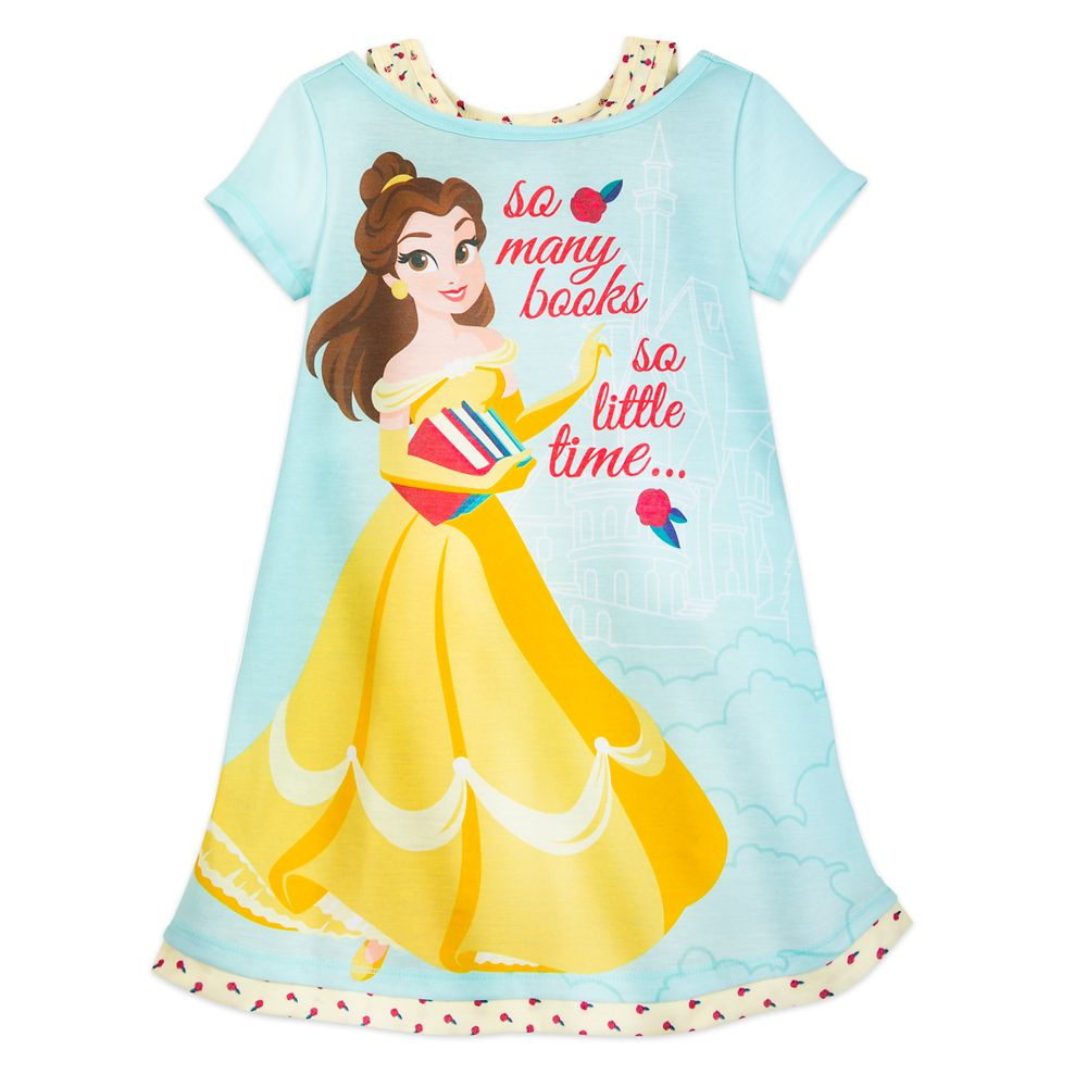 Belle ''So Many Books'' Nightshirt for Girls Official shopDisney