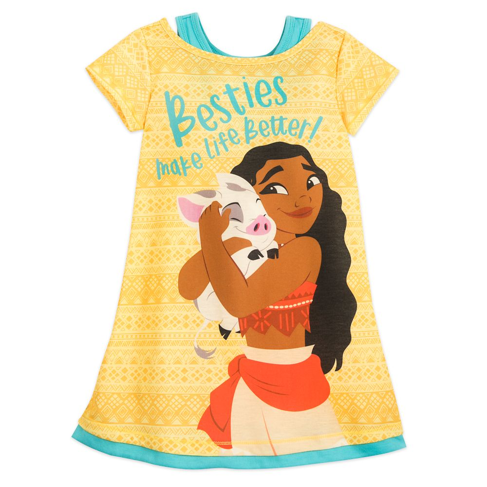 Moana and Pua Nightshirt for Girls