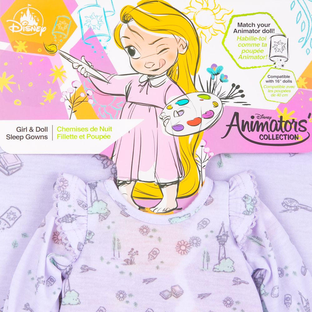 Disney Animators' Collection Rapunzel Sleep Gown Set for Kids and Doll