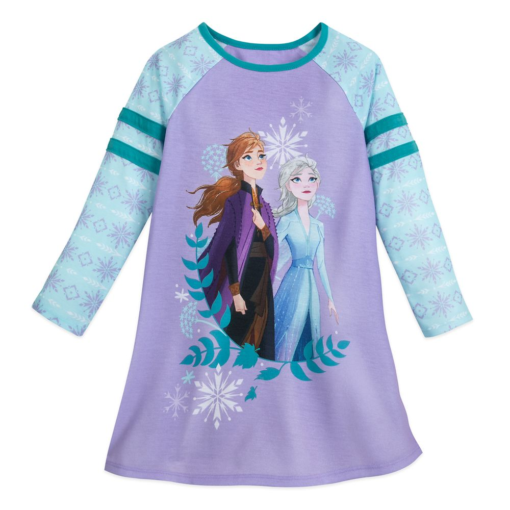 Anna and Elsa Long Sleeve Nightshirt for Girls  Frozen 2 Official shopDisney