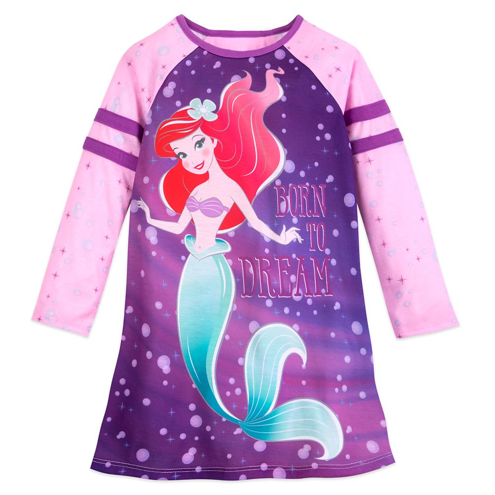 Ariel Long Sleeve Nightshirt for Girls