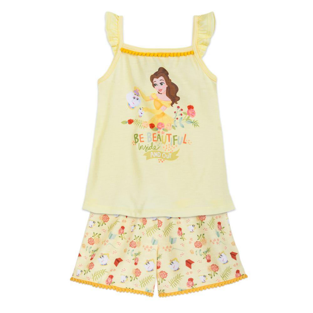Belle Short Sleep Set for Girls – Beauty and the Beast