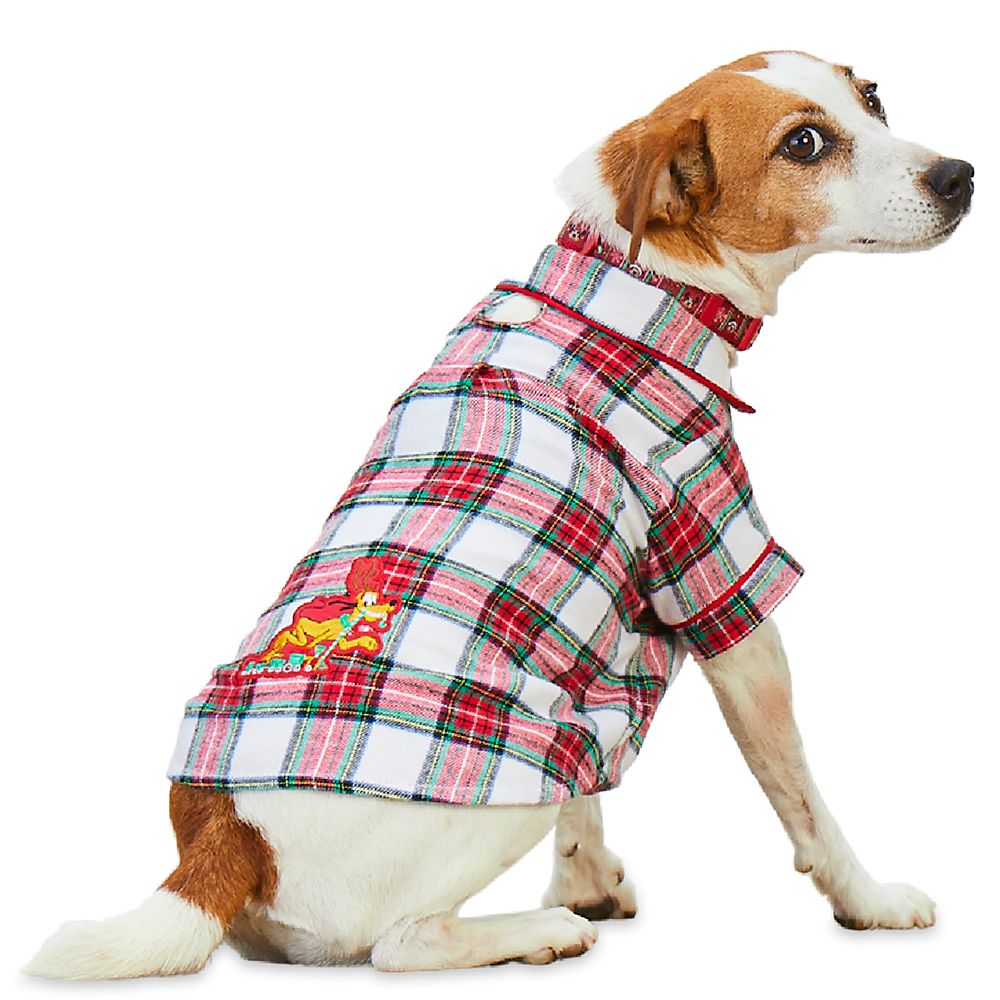 Pluto Holiday Plaid Nightshirt for Dogs