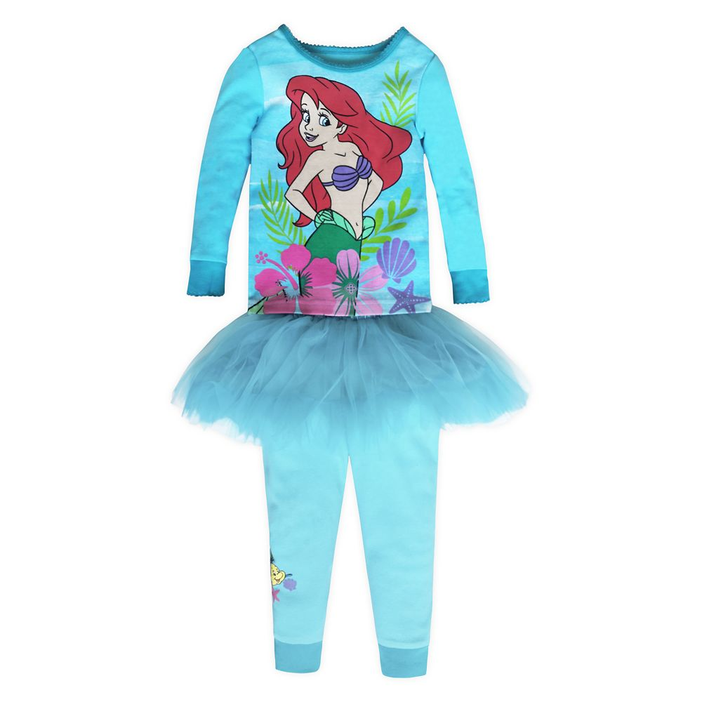 Ariel PJ PALS and Tutu Set for Girls – The Little Mermaid