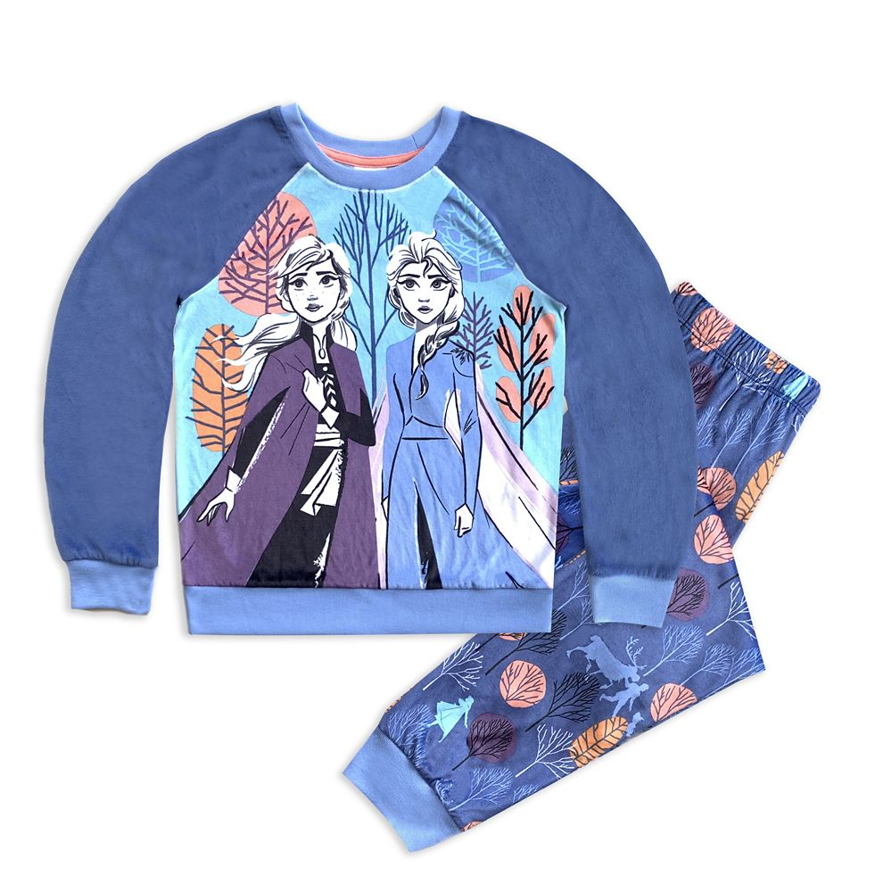 Elsa and Anna Velour Pajama Set for Girls – Frozen 2
