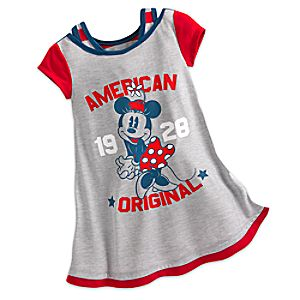 Minnie Mouse Americana Nightshirt for Girls 4902057392097M