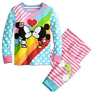 Mickey and Minnie Mouse Kiss PJ PALS for Girls 4902057392122M