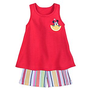 Minnie Mouse Summer Fun Family PJ Set for Girls - Minnie Family Sleepwear 4902057392290M