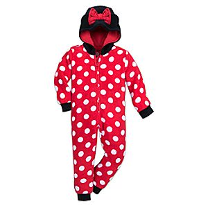 Image of Minnie Mouse Hooded Plush Sleeper for Girls
