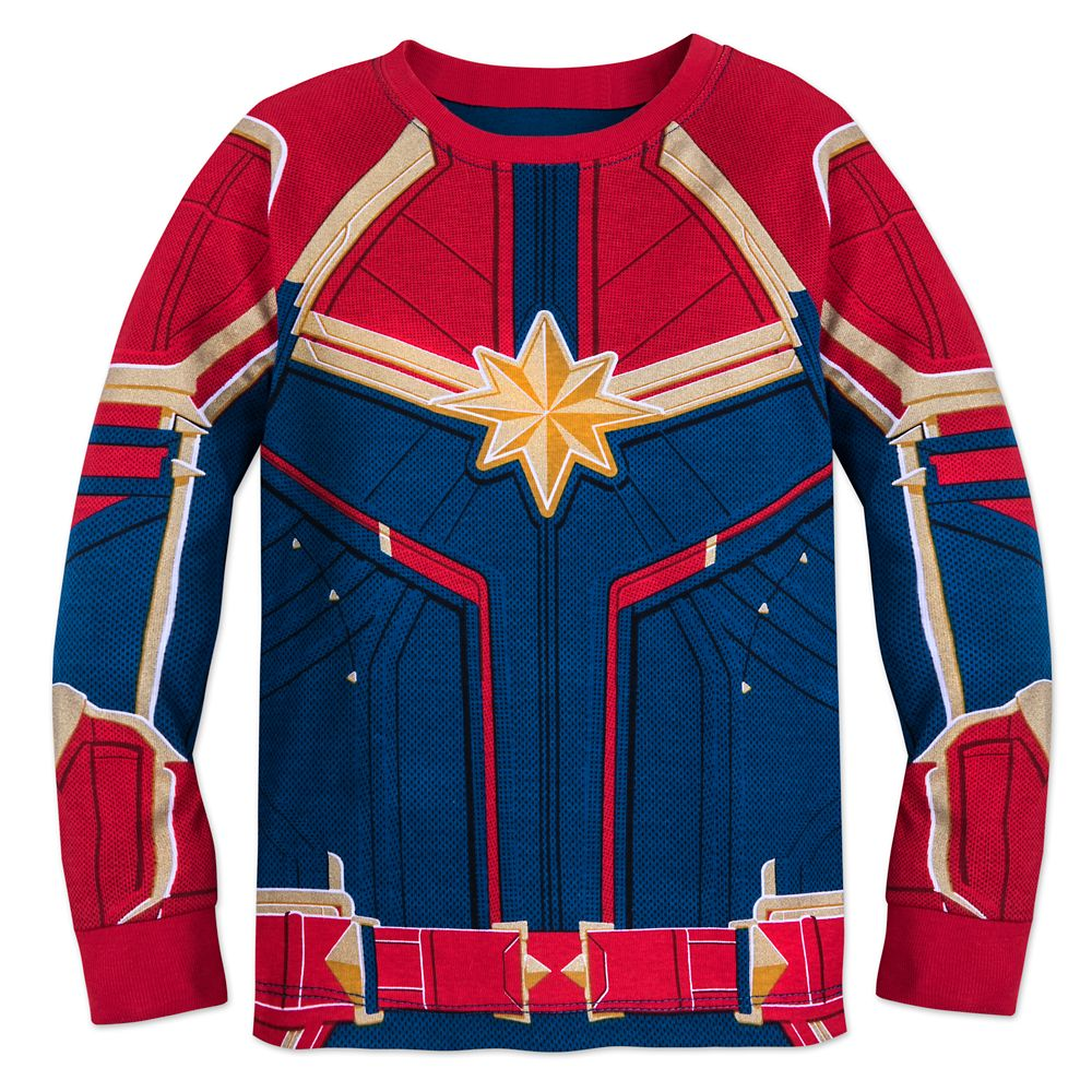 Marvel S Captain Marvel Costume Pj Pals For Girls Shopdisney Iron the bottom portion waxy side down onto the shirt just under the chest area as shown, including the sleeves so the shoulders and bottom portions of sleeves are. marvel s captain marvel costume pj pals for girls
