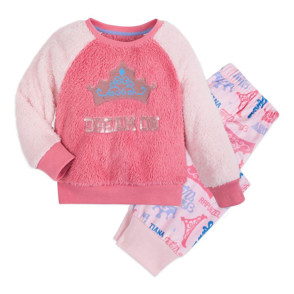 Disney Princess Reversible Sequin PJ Set for Girls
